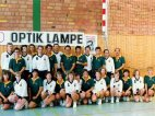 1992: Gemeinsames Gruppenfoto Deutschland - Südafrika