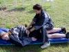 Südafrikatour 2004: Spielerin Maike von Aschwege und Betreuerin Gabi Westenfelder