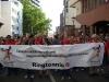 Ringtennis-Block wirbt beim Festumzug für die Ringtennis-WM