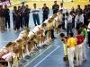 WM2006: Deutsche Mannschaft mit indischer Gestik