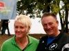 Peter Morstadt mit Kugelstoß-Olympiasiegerin Astrid Kumbernuss